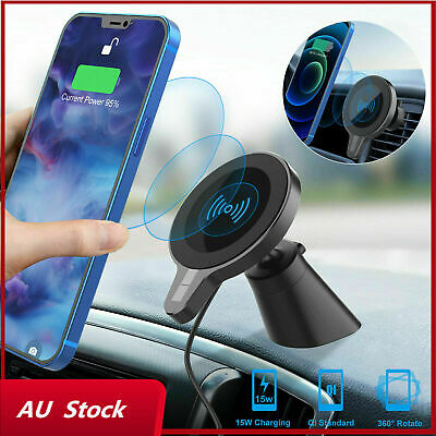 AU29.99 • Buy Magnetic Wireless Car Charger Mount Holder For IPhone 12/12 Pro Max Mini Magsafe