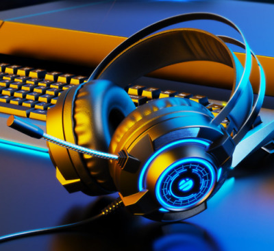 AU27.59 • Buy AU Gaming Headset With Microphone Stereo LED Lighting Headphones For PC PS4 Xbox