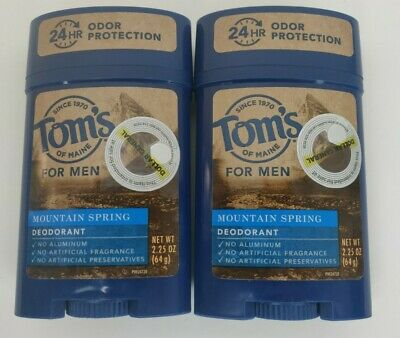 £9.52 • Buy New Lot Of 2 Toms Of Maine 24hr MOUNTAIN SPRING Deodorant Stick Exp 09/21