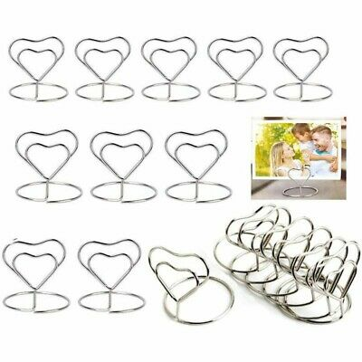 £6.90 • Buy 20pcs Metal Table Card Holder Stand Number Place Name Menu Party Wedding Decor
