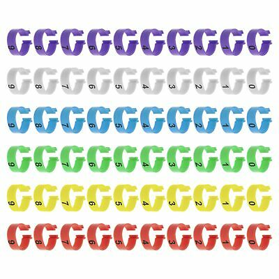 £9.31 • Buy 60pcs Poultry Leg Rings Numbered Clip Leg Bands Rings For Ducks Chickens 20mm