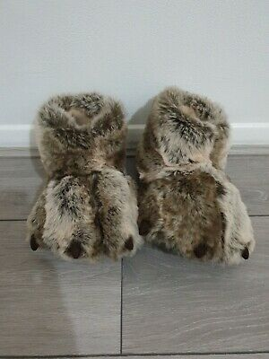 £19.99 • Buy M&S - Women's / Unisex Monster Claw Feet Slippers, Boots Size 5  Brown Mix.