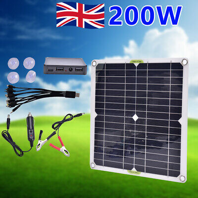 £23.99 • Buy Solar Panel Kit 200W Battery Charger 100A 12V With Controller Caravan Boat UK