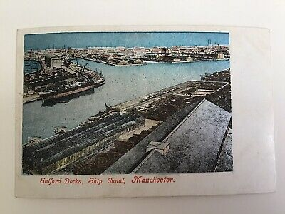 £6.94 • Buy MANCHESTER, Salford Docks Ship Canal, Vintage REAL PHOTO Postcard UnPosted 1267