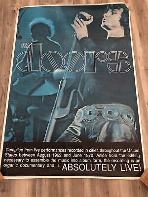 $499.99 • Buy THE DOORS Absolutely Live 1970 Music Concert Poster Original Large 38 X 54