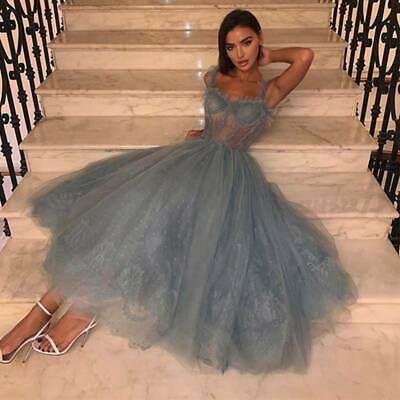 £14.99 • Buy Womens Evening Sleeveless Tulle Ball Gown Cocktail Party Swing Mesh Maxi Dress