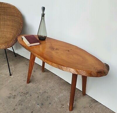 £125 • Buy Mid Century Vintage Timber Slice Yew Coffee Table