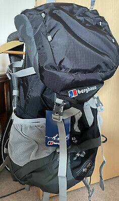 £85 • Buy Unused Berghaus Verden Backpack 65L + 10 Biofit With Raincover