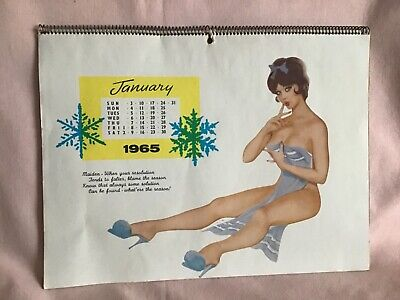 £35.99 • Buy 1965 Very Rare Glamour Girls Calendar In Good Well Used Vintage Condition.