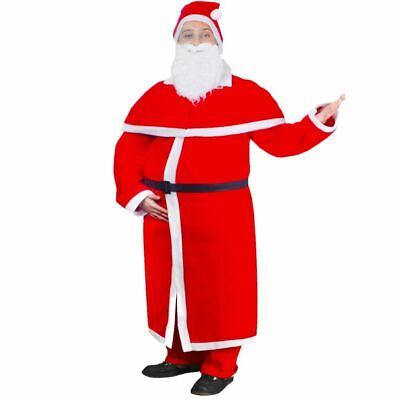 £16.99 • Buy Santa Claus Costume Father Outfit Christmas Flannel Suit Mens Adult Fancy Dress