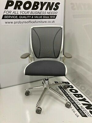 £175 • Buy Humanscale Diffrient World White/grey Quality Operators Arm Chair