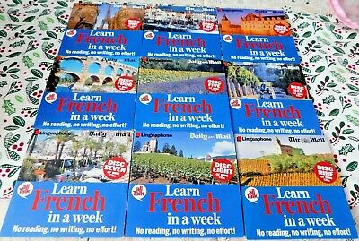 £14 • Buy Daily Mail Promo Linguaphone All Talk Learn French In A Week Audio Course 9 CDs