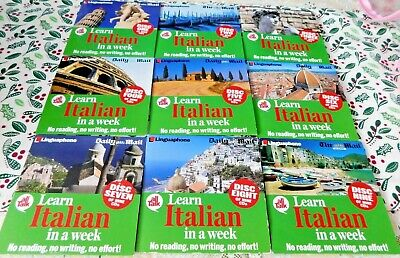 £14 • Buy Daily Mail Promo Linguaphone All Talk Learn Italian In A Week Audio Course 9 CDs