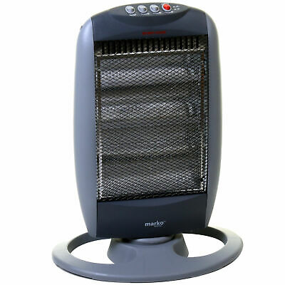 £20.99 • Buy 1200W Halogen Heater 3 Bar Instant Portable Electric Home Office Oscillating NEW