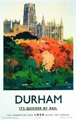 £5.13 • Buy Vintage LNER Durham Cathedral Railway Poster A4/A3/A2/A1 Print