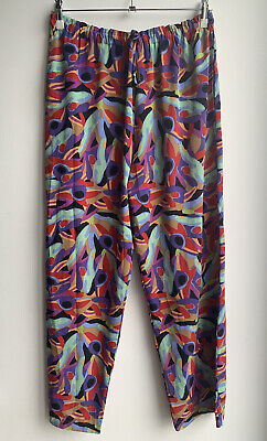 £39.99 • Buy Ken Done Vtg Beautiful Colourful Hope Rainbow Trousers Size L