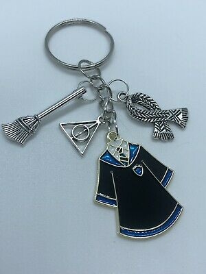 £1.90 • Buy Ravenclaw Harry Potter Inspired Keychain Keyring Deathly Hallows Broomstick