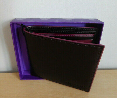 £28.99 • Buy Ted Baker Invested Black Leather Wallet  -  8 Credit Cards Pockets  - NEW