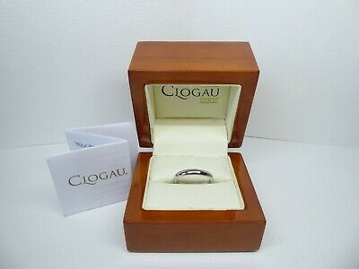 £495 • Buy Clogau Gold 18ct White Gold Cariad Wedding Ring 3mm Size M