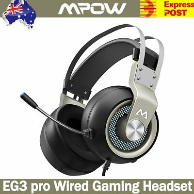 AU45.21 • Buy Mpow Gaming Headset USB Wired Headphones Stereo With Mic For PC Desktop Laptop