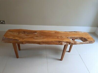 £295 • Buy Mid-Century Freeform Yew Coffee Table By Reynolds Of Ludlow 1960's