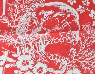 AU162.24 • Buy New Alexander McQueen Red White IVY SKULL CREEPER Cotton Scarf