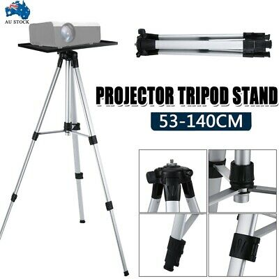 AU43.89 • Buy Projector Tripod Stand Aluminium Adjustable For Laptop With Tray 52-140cm Height