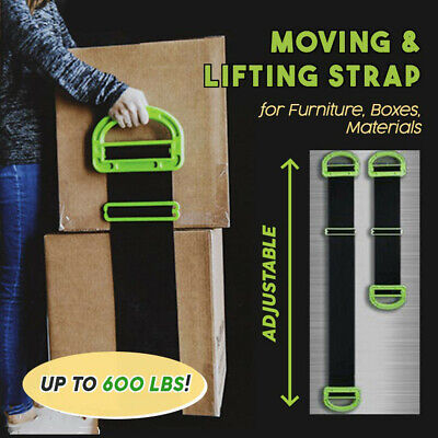AU19.90 • Buy Adjustable Moving And Lifting Straps For Furniture Boxes Mattress