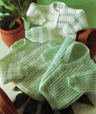 £2.80 • Buy Easy Knit Baby Knitting Pattern For Cardigans & Sweater In DK Fit Birth-2yrs B84