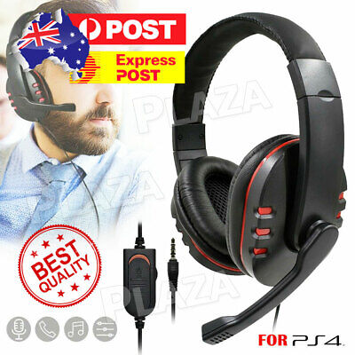 AU15.85 • Buy Gaming Headset Headphone W/ Microphone Volume Control For Sony PS4 PlayStation 4