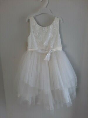 £24.99 • Buy BNWT MONSOON Age 8 White Tulle Floral Lace Eliona Flower Girl Bridesmaid Dress