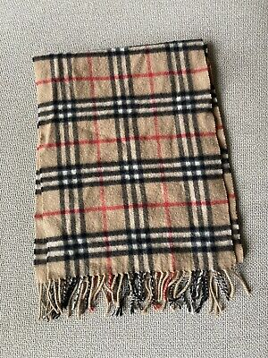£45 • Buy Burberry Check Cashmere Scarf