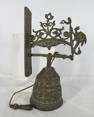£11.28 • Buy Antique Gothic Bronze Pull Door Call Hotel Store Bell Dragon Dolphin Sundial Yqz