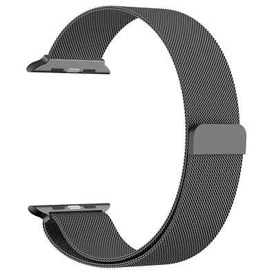 AU14.58 • Buy Milanese Loop Magnetic Stainless Steel Band Strap For Apple Watch 42mm / 44mm AU