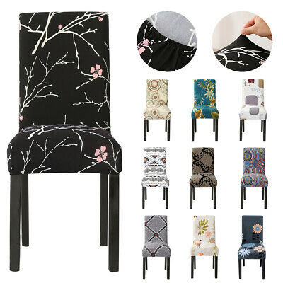 AU3.99 • Buy 4/6/8PCS Premium Dining Chair Covers Spandex SlipCover Wedding Banquet Party
