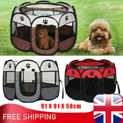 £23.96 • Buy XL Large Portable Pet Dog Playpen Tent Oxford Fabric Fence Kennel Cat Cage Crate