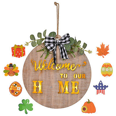 £28.90 • Buy Christmas Decoration Wooden Illuminated Garland Welcome 30*30*2.6CM House Number