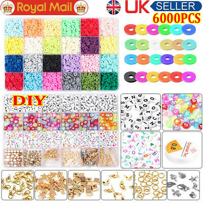 £17.96 • Buy 1 Set Polymer Clay Beads Spacer For DIY Bracelets Jewelry Making Finding UK EM