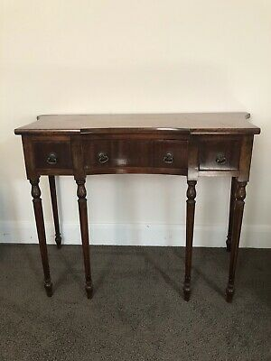 AU160 • Buy Antique Hall Table With 3 Drawers - Pick Up Bentleigh Vic
