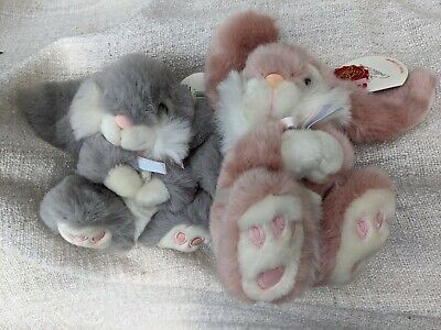 £25 • Buy Simply Soft Collection Pink 18cm & Grey 15cm Rabbit With Tag Excellent Condition