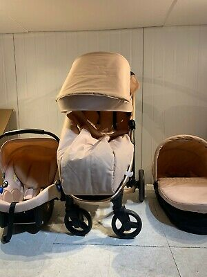 £60 • Buy My Babiie MB200 Billie Faiers Rose Gold And Blush Travel System