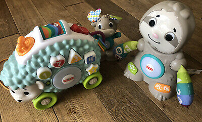 £21 • Buy Fisher-Price Linkimals Sloth, Hedgehog And Moose Toys With Music & Light