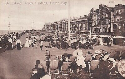 £4 • Buy Bandstand, Tower Gardens, Herne Bay, Valentine's Series, Posted 1913