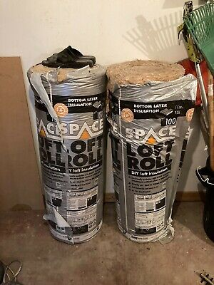 £35 • Buy 2 X KNAKF SPACE LOFT INSULATION ROLL 100mm Thickness 11.8m Coverage Per Roll