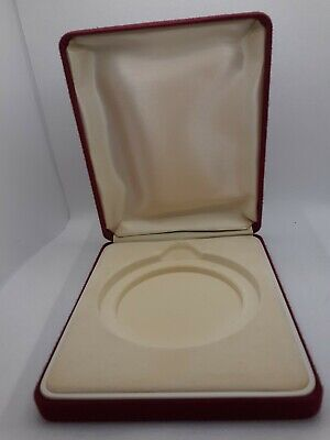 £10 • Buy PRESENTATION BOX Display Case For Medal Or Large Coin. Red. Sturdy And Perfect
