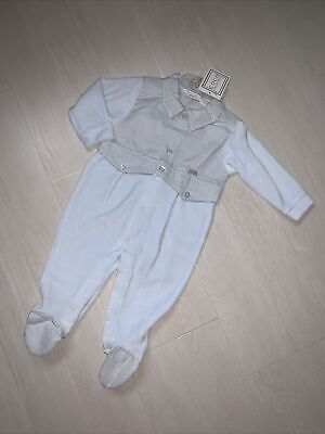 £1.20 • Buy Coco Collection Baby Boys Velour All In One Suit Age 6m , Ideal Gift !