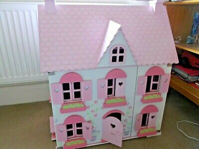 £70 • Buy ELC Rosebud Dolls House + Family + Lots Of Furniture Early Learning Centre