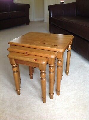 £25 • Buy Ducal Victoria Solid Pine Nest Of 3 Tables