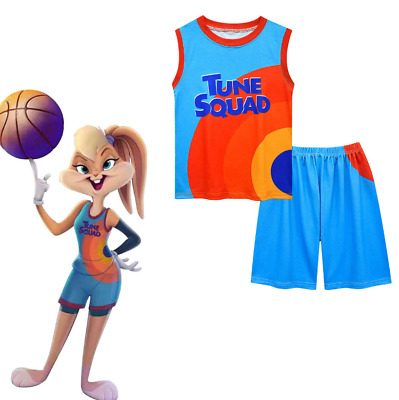£11.66 • Buy New Gift 2Pcs Space Jam Basketball Costume Kids Vest Shirt Tops Shorts Outfit