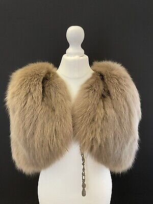 £40 • Buy Real Fur Vintage Cape Stole Shawl